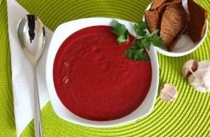 Суровата червена тиквичка - крем супа